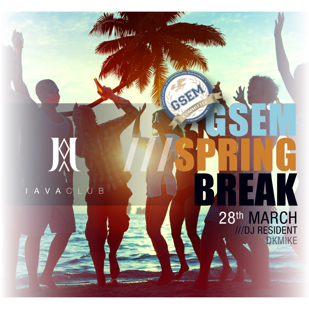 Spring Break Party</br>GSEM